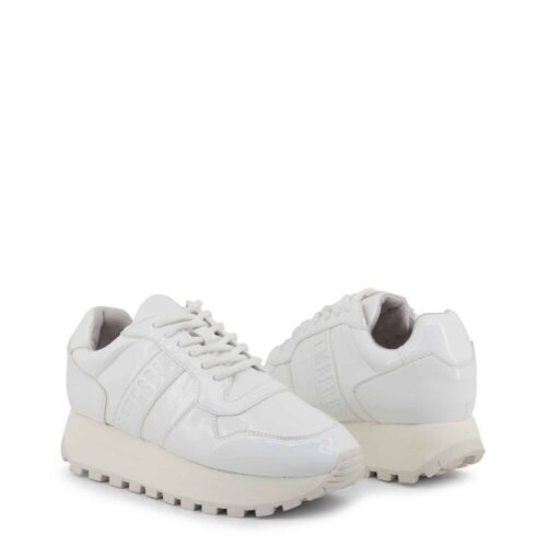 BIKKEMBERGS Sneakers suola alta bianche Donna