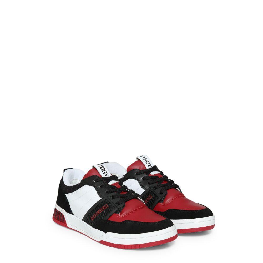 BIKKEMBERGS Sneakers nero bianco e rosso No COD