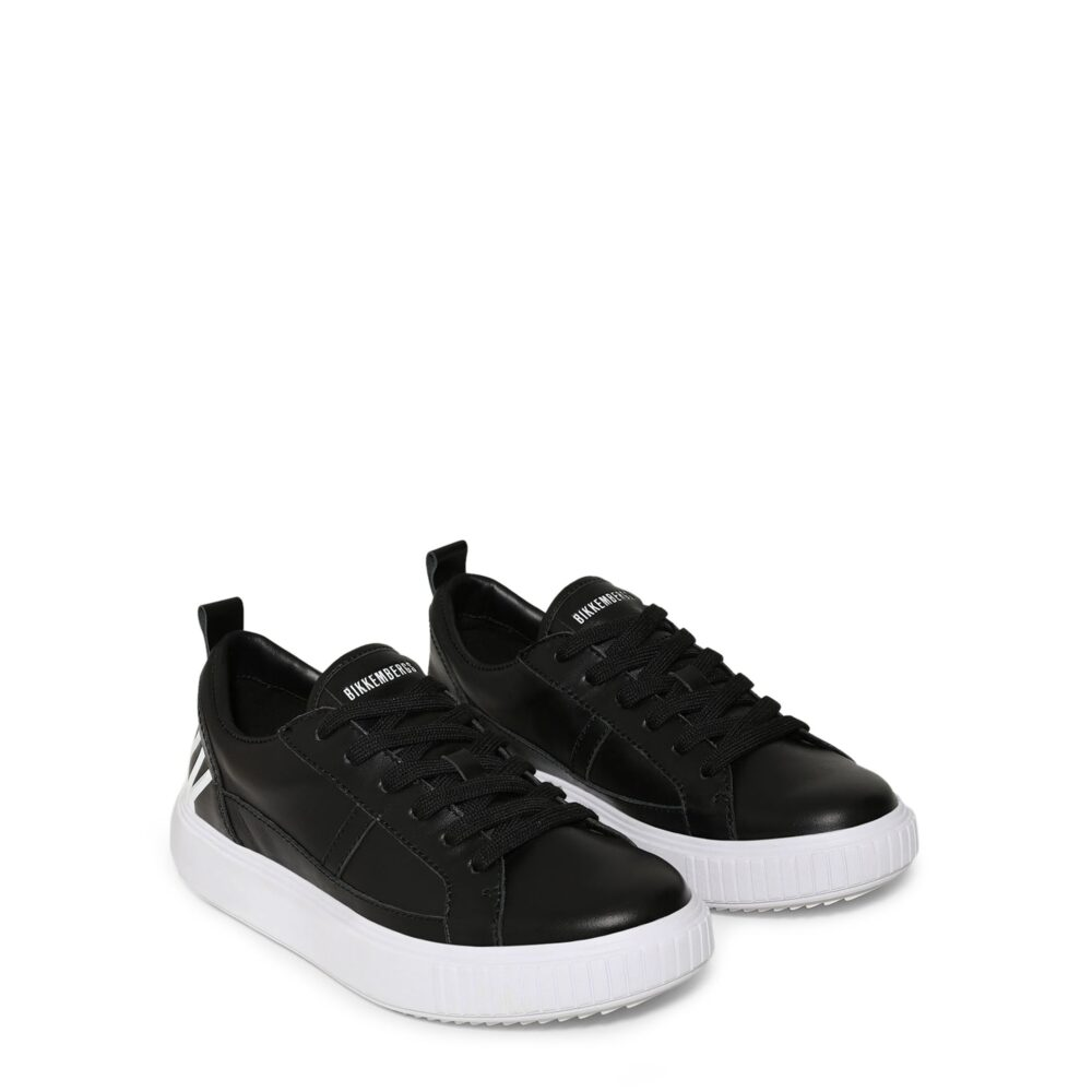 BIKKEMBERGS Sneakers nere e bianche basse Donna