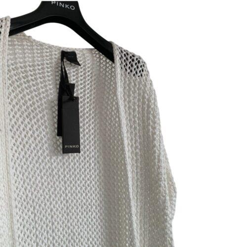 PINKO Cardigan traforato lungo bianco Abbigliamento