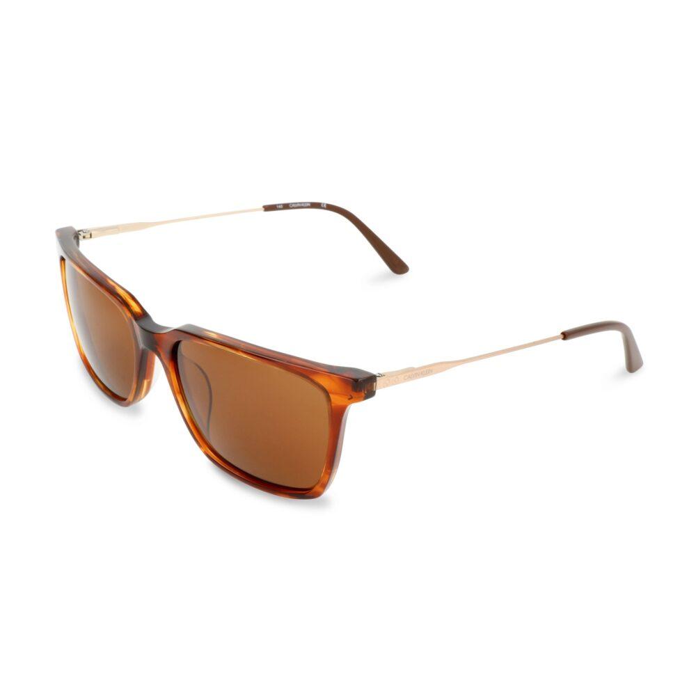 CALVIN KLEIN Occhiali da sole tartarugati con lenti marroni Accessori