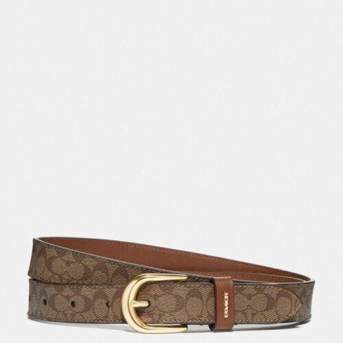 COACH Cintura signature marrone e cuoio Accessori