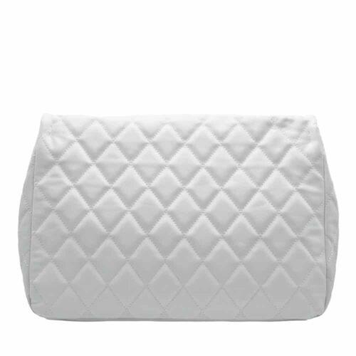 SHOP ART Shopper bianca maxi soft catena argento Borse
