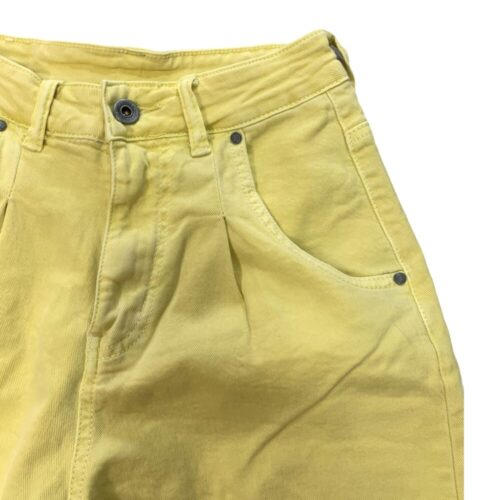 METIS GLAM Pantaloni Mom fit giallo Abbigliamento