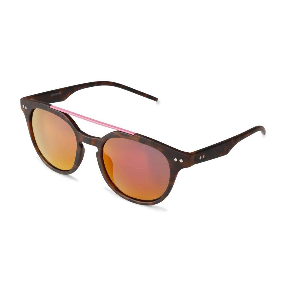 POLAROID Occhiali da sole con montatura marrone e lenti a specchio arancio Accessori