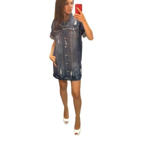 VESTITO corto – CARDIGAN  jeans Abbigliamento