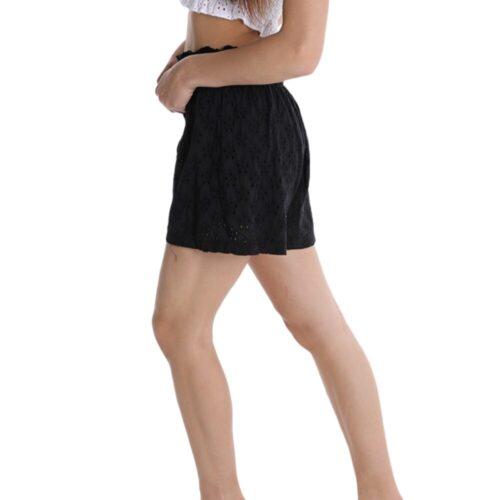 METIS GLAM Pantaloncini Shorts neri con ricami e con fiocco Abbigliamento