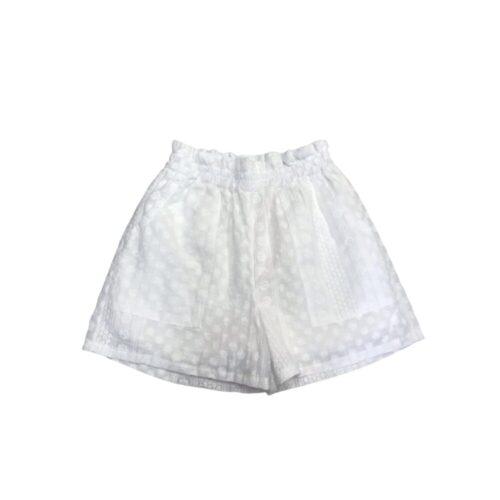 METIS GLAM Shorts bianchi con ricami e tasche Abbigliamento
