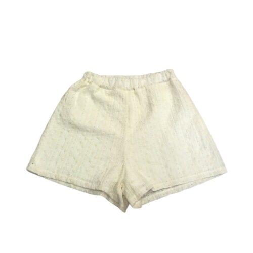 METIS GLAM Shorts panna con ricami Abbigliamento