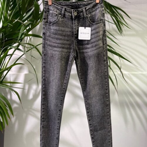 METIS GLAM jeans skinny push up nero sabbiato Abbigliamento