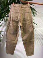 METIS GLAM Pantaloni Mom fit cammello Abbigliamento