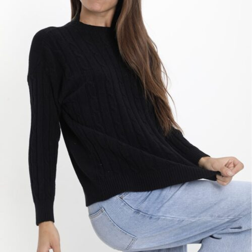 METIS GLAM Maglioncino casual nero Coupon