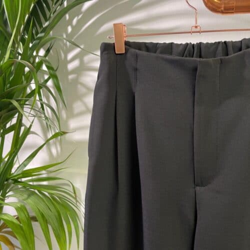 METIS GLAM Pantaloni vita alta pence nero Abbigliamento