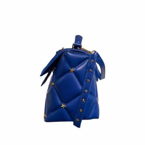 SHOP ART borsa blu trapuntata con tracolla Bauletti