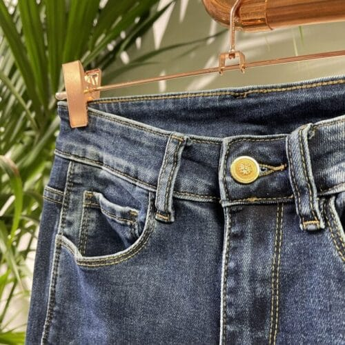 METIS GLAM jeans con bottoni oro Abbigliamento