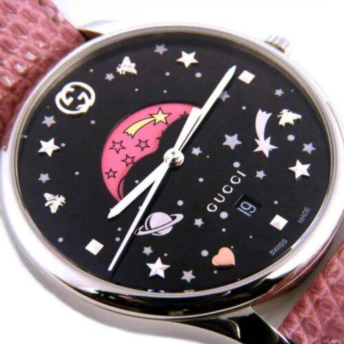 GUCCI Orologio rosa e argento fasi lunari Accessori