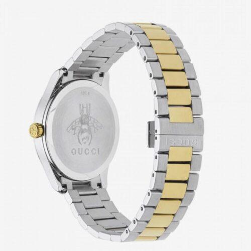 GUCCI Orologio acciaio con dettagli argento e oro e motivo serpente Accessori