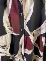 METIS GLAM vestito a fantasia bordeaux nero e beige Abbigliamento