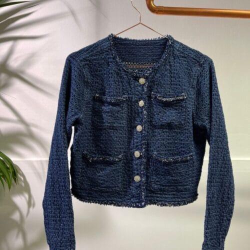 METIS GLAM Giacca di jeans con bocchette e brillantini (Copia) Abbigliamento