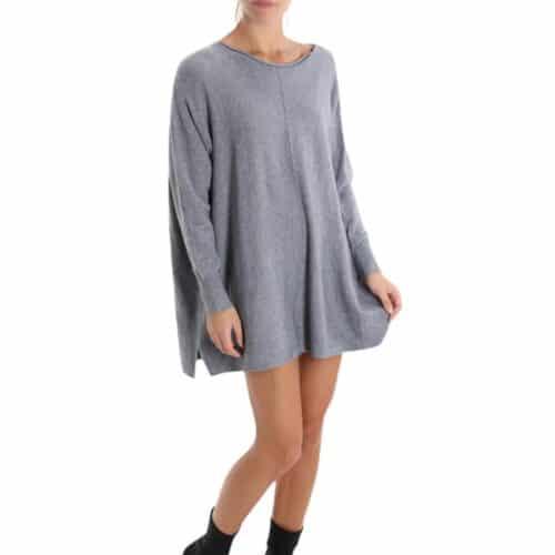 METIS GLAM Maxi maglia / vestito grigio Abbigliamento
