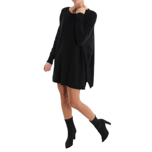 METIS GLAM Maxi maglia / vestito nero Abbigliamento